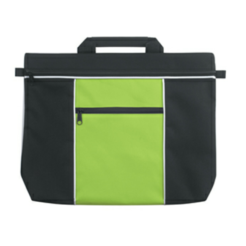 Lime Green Metro Document Bag as seen from the front