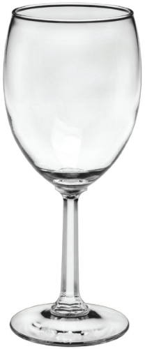 Clear 10 oz. Napa Valley Goblet w/ Optic Stem as seen from the front