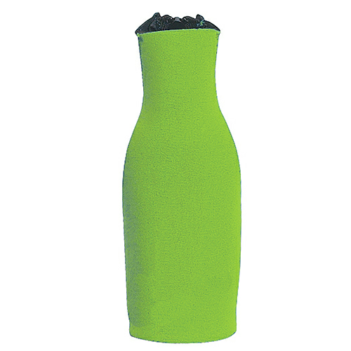 Lime Green Bottle Buddy as seen from the front