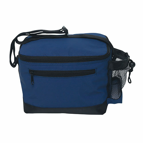 Navy Six Pack Kooler Bag as seen from the front