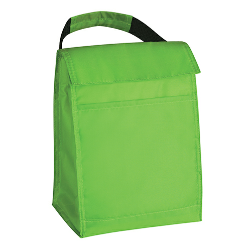 Lime Green Budget Lunch Bag as seen from the front