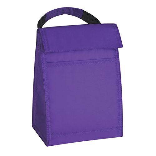 Purple Budget Lunch Bag as seen from the front