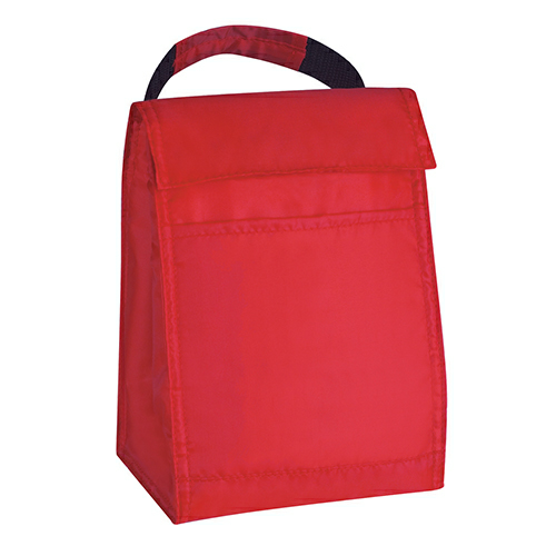 Red Budget Lunch Bag as seen from the front