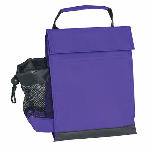 Purple Identification Lunch Bag as seen from the front