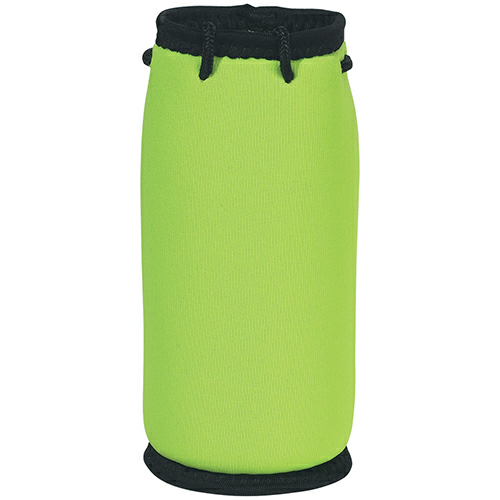 Lime Green Bottle Bag as seen from the front