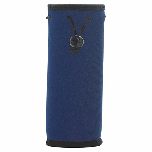 Navy Bottle Bag as seen from the front