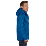 Blue Sapphire Men's PreCip Jacket as seen from the sleeveright
