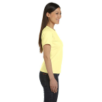 Canary Women's Short Sleeve Organic Fine Jersey Tee as seen from the sleeveright