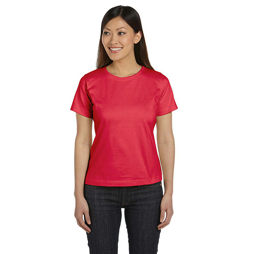 Cherry Women's Short Sleeve Organic Fine Jersey Tee as seen from the front