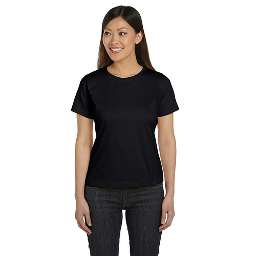 Night Women's Short Sleeve Organic Fine Jersey Tee as seen from the front
