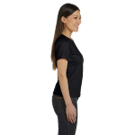 Night Women's Short Sleeve Organic Fine Jersey Tee as seen from the sleeveright