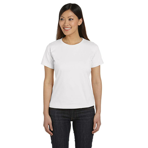 Salt Women's Short Sleeve Organic Fine Jersey Tee as seen from the front