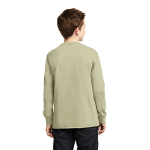 Natural Organic Youth Long Sleeve Crew Tee as seen from the back