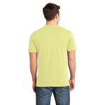 Canary Unisex Short Sleeve ORGANIC Tee as seen from the back