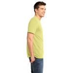 Canary Unisex Short Sleeve ORGANIC Tee as seen from the sleeveright