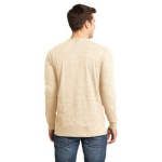 Pfd Natural Unisex ORGANIC Long Sleeve T as seen from the back