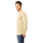 Pfd Natural Unisex ORGANIC Long Sleeve T as seen from the sleeveleft