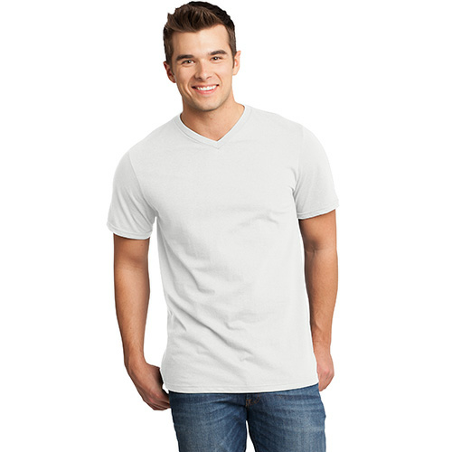 Salt Organic Short Sleeve V-neck as seen from the front