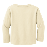 Natural Organic Toddler Long Sleeve Crew Tee as seen from the back