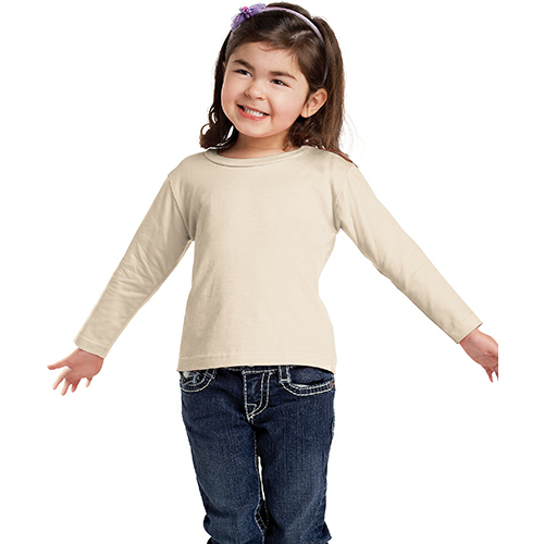 Organic Toddler Long Sleeve Crew Tee