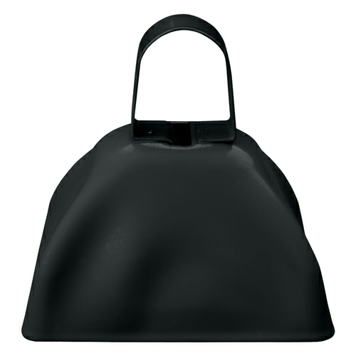 Black Small Cow Bell as seen from the front