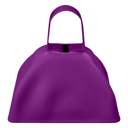 Purple Small Cow Bell as seen from the front