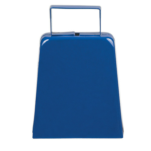 Blue Large Cow Bell as seen from the front
