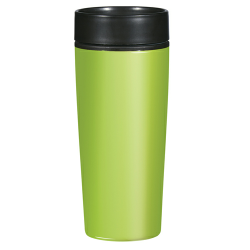 Lime 14 Oz. Stainless Steel Glossy Tumbler as seen from the front