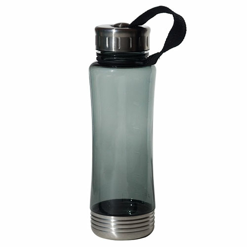 Translucent Charcoal 22 Oz. Fusion Bottle as seen from the front