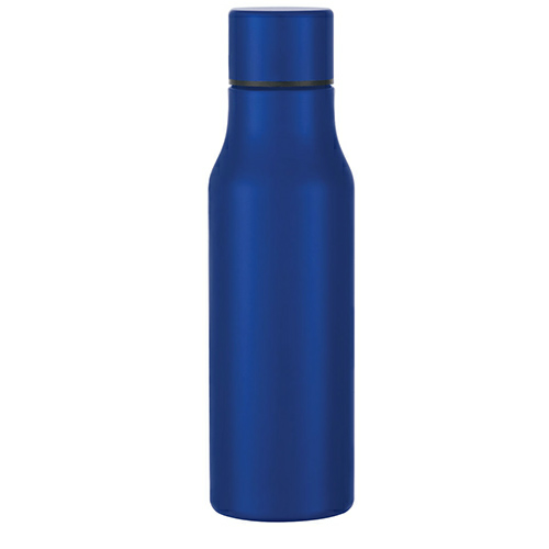 Metallic Blue 24 Oz. Stainless Steel Bottle as seen from the front