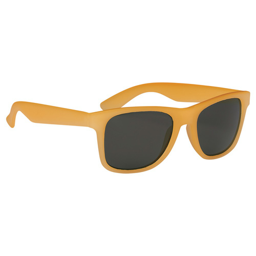 Orange Color Changing Malibu Sunglasses as seen from the front