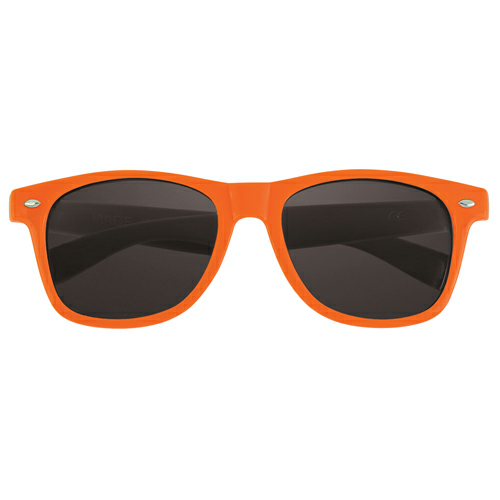 Orange Full Color Lens Glasses as seen from the front