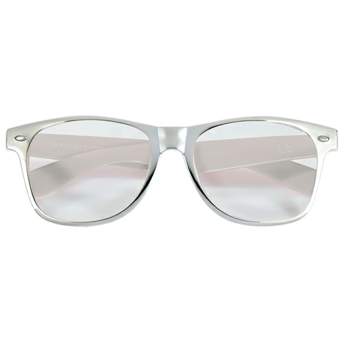 Silver/clear Full Color Lens Glasses as seen from the front