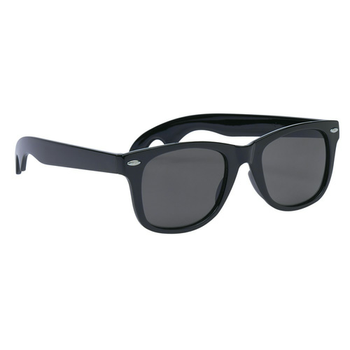 Black Bottle Opener Malibu Sunglasses as seen from the front