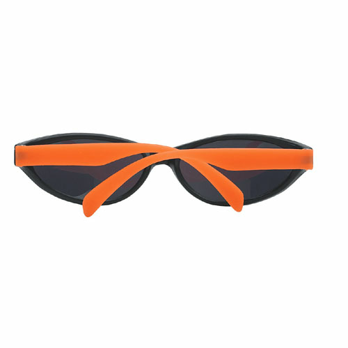 Neon Orange Wave Rubberized Sunglasses as seen from the front