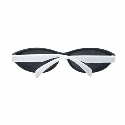 White Wave Rubberized Sunglasses as seen from the front