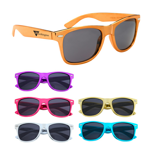 Group Metallic Malibu Sunglasses as seen from the front