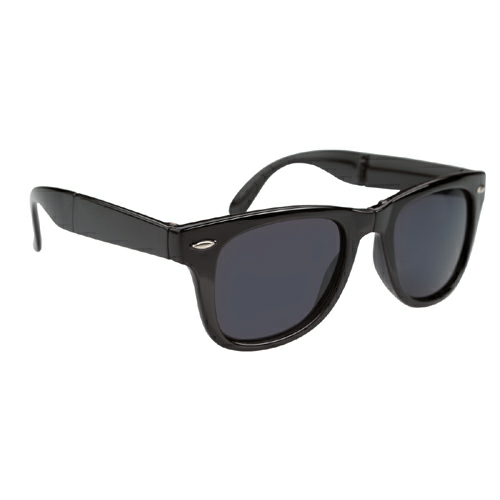 Black Folding Malibu Sunglasses as seen from the front