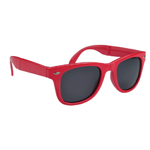 Red Folding Malibu Sunglasses as seen from the front