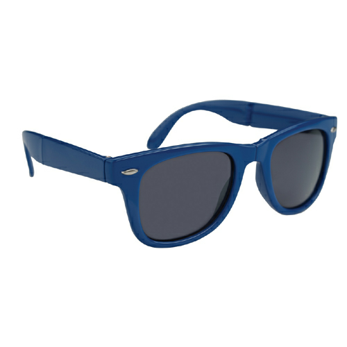 Royal Blue Folding Malibu Sunglasses as seen from the front