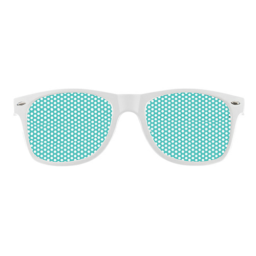 White Retro Specs as seen from the front