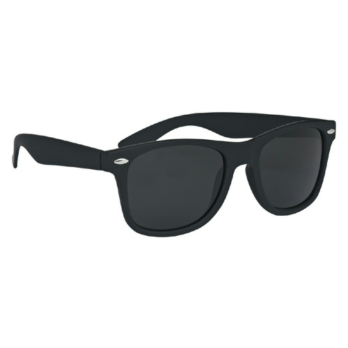 Black Velvet Touch Malibu Sunglasses as seen from the front