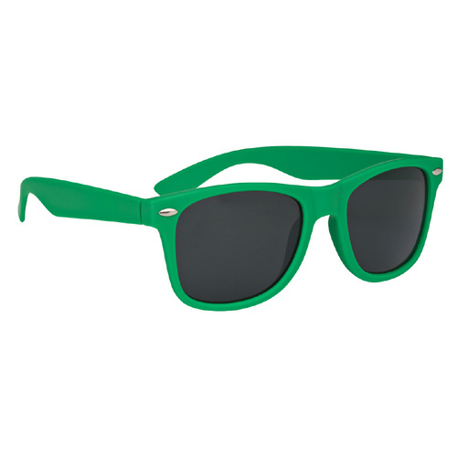 Kelly Green Velvet Touch Malibu Sunglasses as seen from the front
