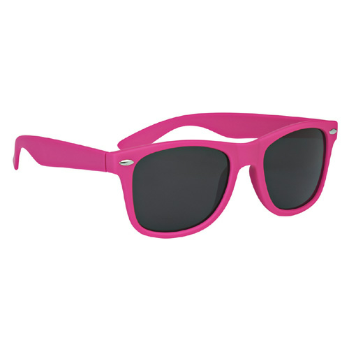Pink Velvet Touch Malibu Sunglasses as seen from the front