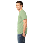 Recycle Green Unisex UNION MADE Recycled Jersey Tee as seen from the sleeveleft