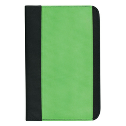 Lime Non-Woven Small Padfolio as seen from the front