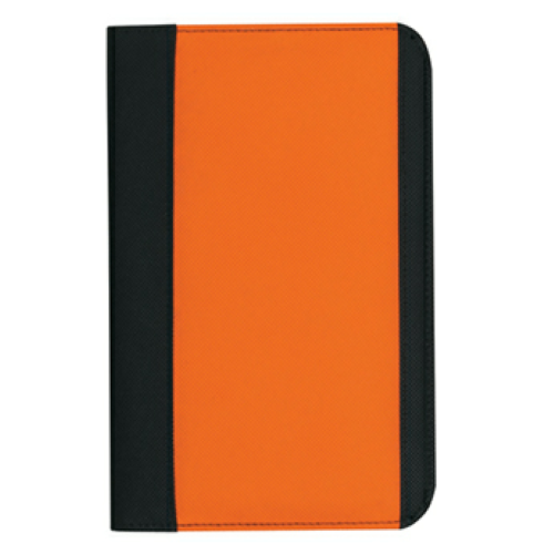 Orange Non-Woven Small Padfolio as seen from the front