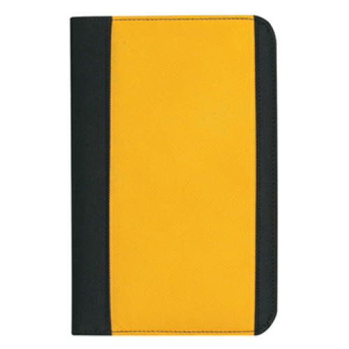 Yellow Non-Woven Small Padfolio as seen from the front