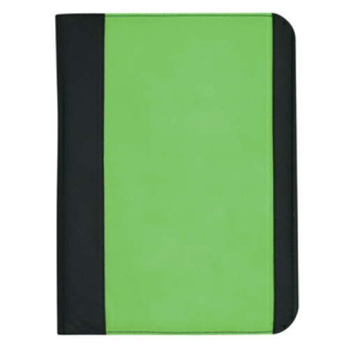 Lime Green Non-Woven Large Padfolio as seen from the front