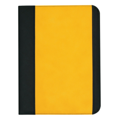 Yellow Non-Woven Large Padfolio as seen from the front